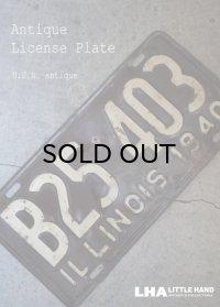 USA antique アメリカアンティーク ライセンスプレート ヴィンテージ ナンバープレート サイン 看板 1940's
