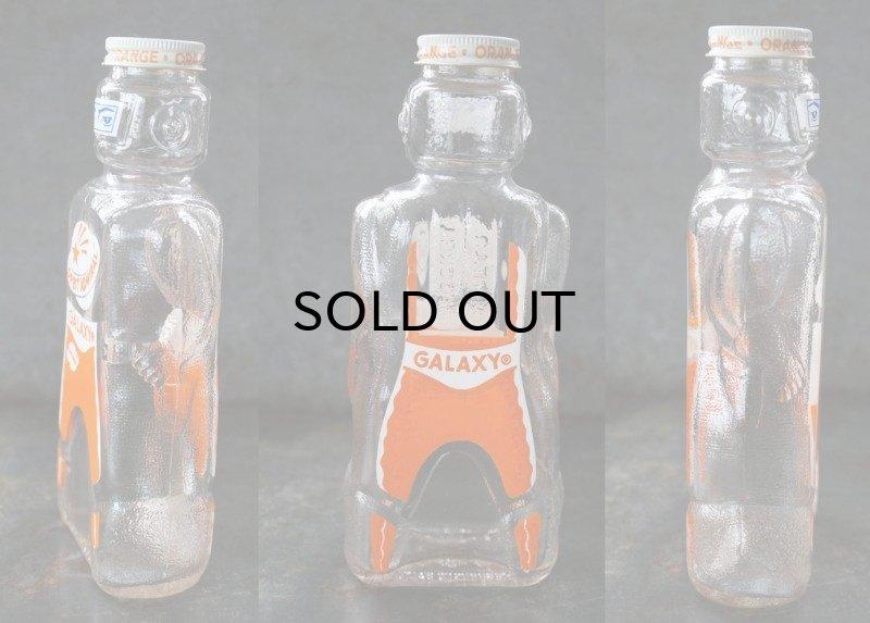 画像2: USA antique SPACE FOODS GALAXY Spaceman Bottle アメリカアンティーク ヴィンテージ ギャラクシー スペースマン ボトル シロップ瓶 未使用デッドストック 1950's