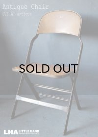 U.S.A. antique Clarin FOLDING CHAIR アメリカアンティーク クラリン フォールディングチェア 折りたたみ椅子 1938's