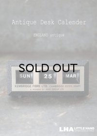ENGLAND antique イギリスアンティーク 万年 アドバタイジング デスクカレンダー 1970's 卓上 メカニカル ヴィンテージカレンダー 暦 広告