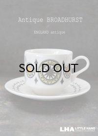 ENGLAND antique BROADHURST 【Kathie Winkle】イギリスアンティーク ブロードハースト社 カップ&ソーサー C&S 1970's ヴィンテージ コーヒーカップ