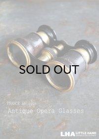 FRANCE antique フランスアンティーク 真鍮・レザーカバー オペラグラス ブラス Opera Glasses 双眼鏡 1900-30's