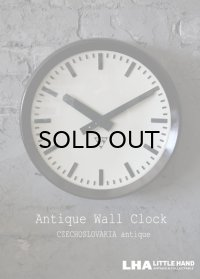 CZECHOSLOVAKIA antique PRAGOTRON wall clock チェコスロバキアアンティーク パラゴトロン社 掛け時計 ヴィンテージクロック 32cm 1960's
