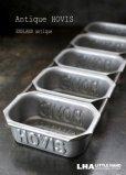画像1: 【RARE】ENGLAND antique イギリスアンティーク HOVIS ホーヴィス ミニブレッド缶 ベーキングティンモールド 型 5連 1930-50's (1)