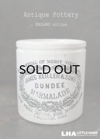 ENGLAND antique イギリスアンティーク DUNDEE  ダンディ マーマレードジャー  陶器ポット 陶器ジャー 1900's
