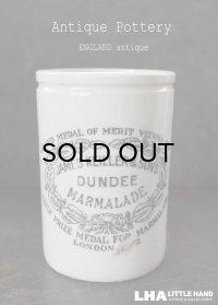 ENGLAND antique イギリスアンティーク DUNDEE ダンディ マーマレードジャー トール型 H11.3cm 陶器ポット 1900's