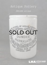 ENGLAND antique イギリスアンティーク DUNDEE ダンディ マーマレードジャー トール型 H11.3cm 陶器ポット 1873's