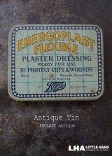 ENGLAND antique イギリスアンティーク Boots EMERGOPLAST FLEXIBLE ティン缶 ブリキ缶 1920-30's