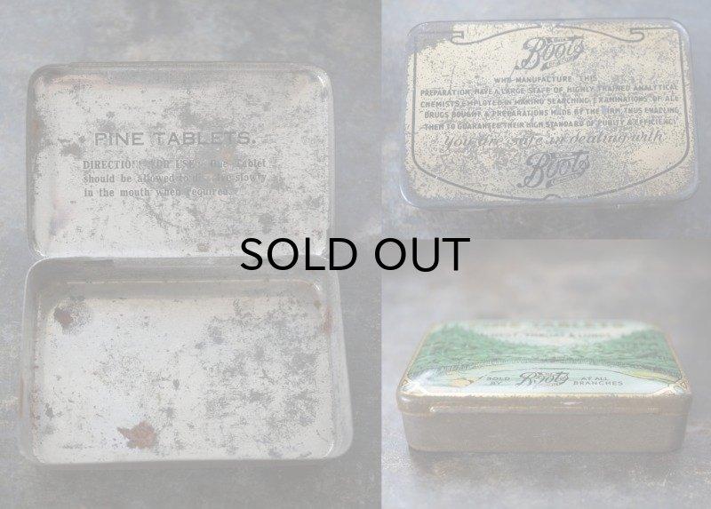 画像3: ENGLAND antique イギリスアンティーク Boots PINE TABLETS ティン缶 ブリキ缶 1920-30's