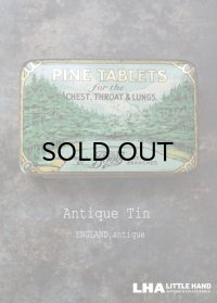 ENGLAND antique イギリスアンティーク Boots PINE TABLETS ティン缶 ブリキ缶 1920-30's