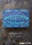 画像1: USA antique アメリカアンティーク EDGEWORTH TOBACCO タバコ缶 ティン缶 ブリキ缶 ヴィンテージ 1920-40's  (1)