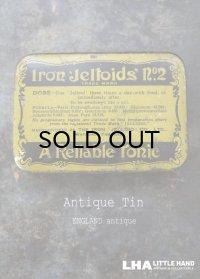 ENGLAND antique イギリスアンティーク A Relliable tonic ティン缶 ブリキ缶 1920-30's
