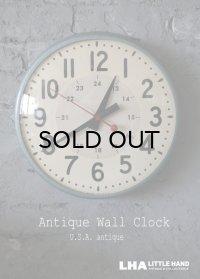 【RARE】U.S.A. antique SESSIONS wall clock アメリカアンティーク  掛け時計 スクール ヴィンテージ クロック 34cm 1950's インダストリアル 工業系