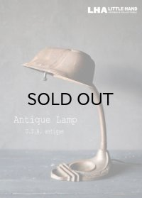 USA antique アメリカアンティーク インダストリアル デスクランプ バンカーズランプ グースネック 工業系 ライト 照明 ヴィンテージランプ 1920-30's
