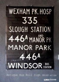 【RARE】ENGLAND antique BUS ROLL SIGN 1975's イギリスアンティーク バスサイン H120.3xW91cm ヴィンテージ バスロールサイン 行先回転案内標示