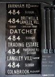 画像1: SALE 【20%OFF】 【RARE】ENGLAND antique BUS ROLL SIGN 1975's イギリスアンティーク バスサイン H186.8xW91cm ヴィンテージ バスロールサイン 行先回転案内標示  (1)