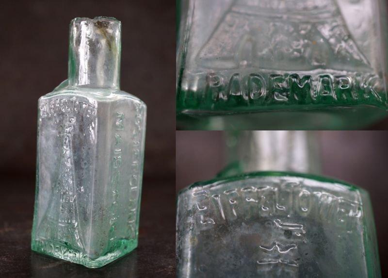 画像4: 【RARE】ENGLAND antique イギリスアンティーク EIFFEL TOWER FRUIT JUICES 素敵な【エッフェル塔】模様 ガラスボトル 瓶 1900's