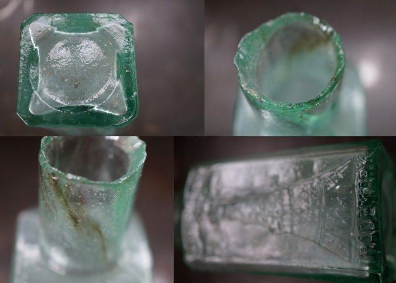 画像5: 【RARE】ENGLAND antique イギリスアンティーク EIFFEL TOWER FRUIT JUICES 素敵な【エッフェル塔】模様 ガラスボトル 瓶 1900's