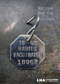 U.S.A. antique Dog Tag アメリカアンティーク ヴィンテージ ドッグタグ 1982's ロゴ入り ナンバープレート ナンバータグ タグ