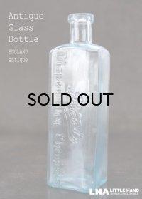 ENGLAND antique イギリスアンティーク 筆記体ロゴが素敵な【Boots】 ガラスボトル H16cm ガラス瓶 1920's