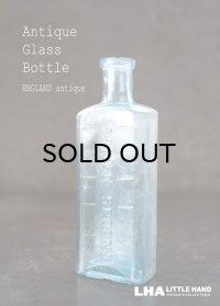 ENGLAND antique イギリスアンティーク TABLE SPOONS ガラスボトル H12.5cm ガラス瓶 1890-1910's