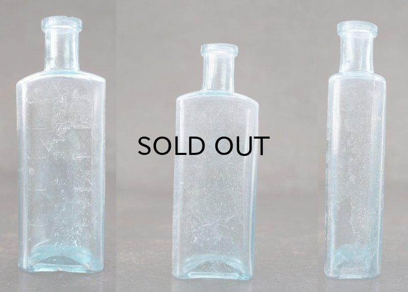 画像2: ENGLAND antique イギリスアンティーク TABLE SPOONS ガラスボトル H12.5cm ガラス瓶 1890-1910's