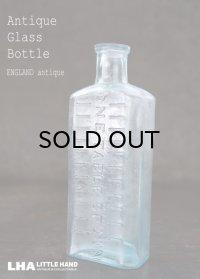 ENGLAND antique イギリスアンティーク TABLE SPOONS ガラスボトル H15.2cm ガラス瓶 1890-1910's