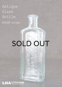 ENGLAND antique イギリスアンティーク 筆記体ロゴが素敵な【Boots】 ガラスボトル H14.3cm ガラス瓶 1920's
