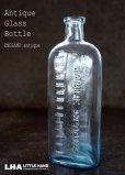 画像1: ENGLAND antique イギリスアンティーク TABLE SPOONS ガラスボトル H16.5cm ガラス瓶 1890-1910's (1)