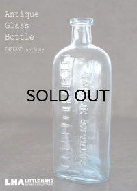 ENGLAND antique イギリスアンティーク TABLE SPOONS ガラスボトル H16.5cm ガラス瓶 1890-1910's