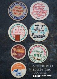 U.S.A. antique  Milk Bottle Caps アメリカアンティーク ヴィンテージ ミルクボトルキャップ 7枚SET ミルクキャップ