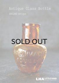 【RARE】ENGLAND antique イギリスアンティーク BORTHWICK'S BOUILLON 【ハート型・M】刻印入 ガラスボトル H8cm 瓶 1890-1900's