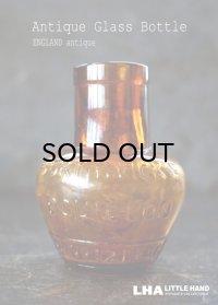【RARE】ENGLAND antique イギリスアンティーク BORTHWICK'S BOUILLON 【ハート型・L】刻印入 ガラスボトル H9.1cm 瓶 1890-1900's