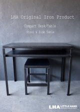 LHA 【LITTLE HAND ANTIQUE】 ORIGINAL IRON PRODUCT 【Iron Compact Desk/Table】アイアン コンパクト デスク/テーブル 鉄 インダストリアル 工業系