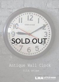 U.S.A. antique GIBRALTAR wall clock  アメリカアンティーク ジブラルタル 掛け時計 ヴィンテージ スクール クロック 特大46.2cm 1959's
