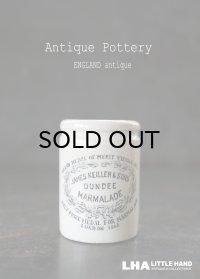 【RARE】 ENGRAND antique イギリスアンティーク 【H53mm】ミニ DUNDEE マーマレードジャー 陶器ポット 1900's