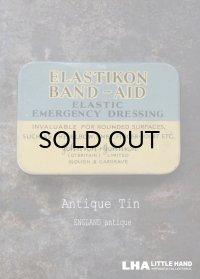 ENGLAND antique ELSTIKON BAND AID ジョンソン&ジョンソン バンドエイド缶 ティン缶 ブリキ缶 1930's