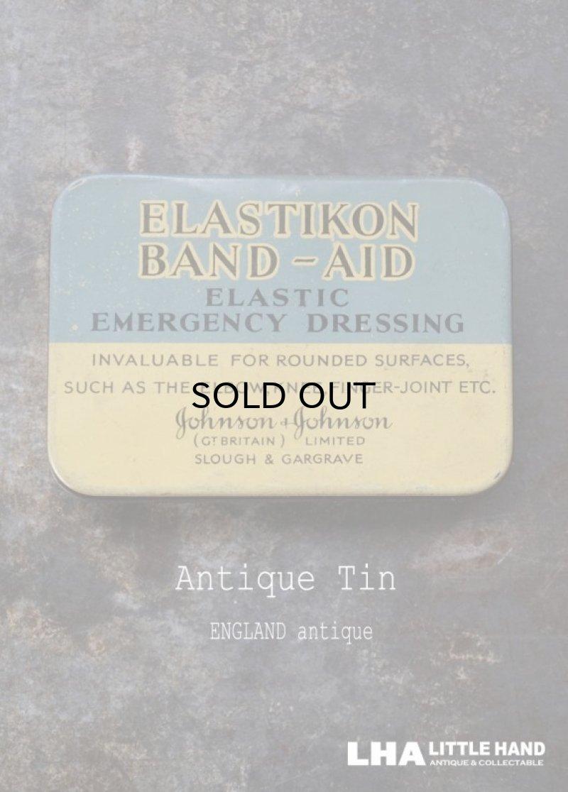 画像1: ENGLAND antique ELSTIKON BAND AID ジョンソン&ジョンソン バンドエイド缶 ティン缶 ブリキ缶 1930's