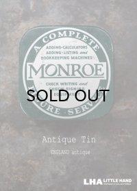 USA antique アメリカアンティーク MONROE ティン缶 ブリキ缶 ヴィンテージ 1940-50's