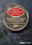 画像1: ENGLAND antique イギリスアンティーク Boots FUMIGATING PASTILLES ティン缶 7.2cm ブリキ缶 1920-30's (1)
