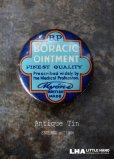 画像1: ENGLAND antique イギリスアンティーク Boracic Ointment ティン缶 5cm ブリキ缶 1930's (1)