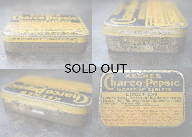 画像3: ENGLAND antique イギリスアンティーク KEENE'S Charco pepsic タブレット ティン缶 ブリキ缶 1920-30's