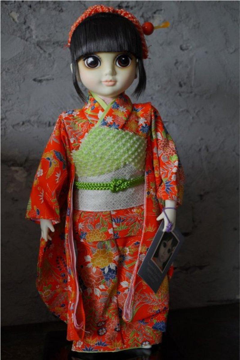 """画像1: Margaret Keane's International """" Big Eyes"""" Children Signatue Collection Doll YOKO  箱付き"""