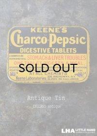 ENGLAND antique イギリスアンティーク KEENE'S Charco pepsic タブレット ティン缶 ブリキ缶 1920-30's