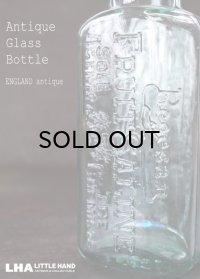【RARE】ENGLAND antique イギリスアンティーク 筆記体ロゴが素敵な【Boots】 ガラスボトル H17.8cm ガラス瓶 1920's