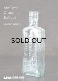ENGLAND antique イギリスアンティーク ELLIMAN'S ガラスボトル H14.4cm ガラス瓶 1900-1910's