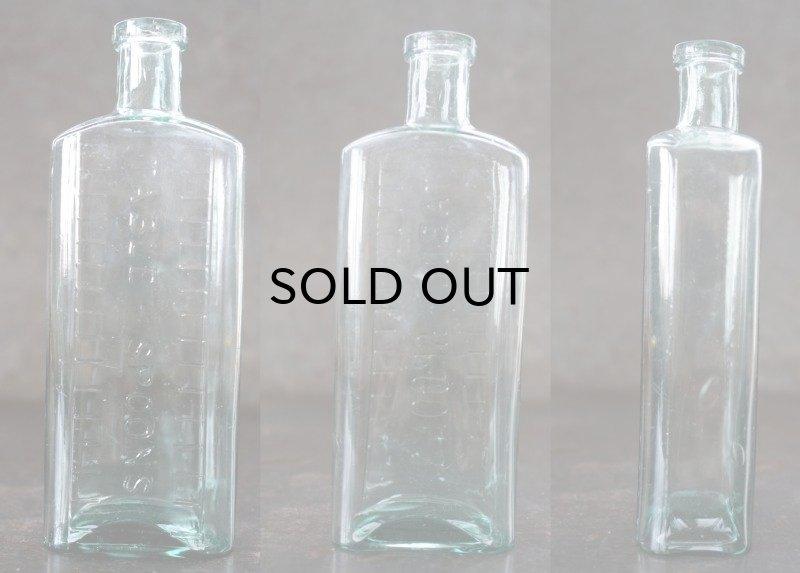 画像2: ENGLAND antique イギリスアンティーク TABLE SPOONS ガラスボトル H16.3cm ガラス瓶 1890-1910's