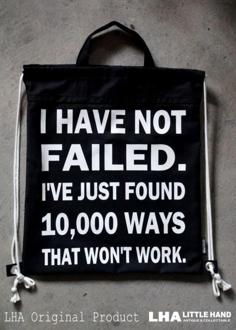 画像1: LHA ORIGINAL ナップサック リュック バッグ I have not failed