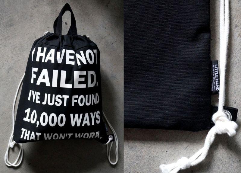画像3: LHA ORIGINAL ナップサック リュック バッグ I have not failed