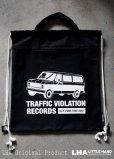 画像1: LHA ORIGINAL ナップサック リュック バッグ TRAFFIC VIOLATION RECORDS NY (1)